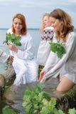Slavische vrouwen Royalty-vrije Stock Foto