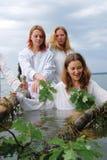 Slavische vrouwen Stock Afbeeldingen
