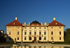 Slavkov baroque castle (national cultural landmark) Slavkov - Austerlitz near Brno, South Moravia, Czech republic. Stock Photography