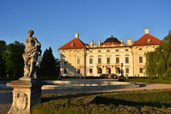 Slavkov baroque castle (national cultural landmark) Slavkov - Austerlitz near Brno, South Moravia, Czech republic. Stock Image