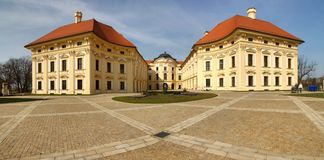 Slavkov castle in Czech republic Royalty Free Stock Image