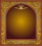 Slavonik frame beer icon advertising Royalty Free Stock Photo