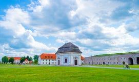 Military fort in Slavonski Brod. Slavonski Brod, Croatia - June 17, 2017: Military fort in Slavonski Brod Royalty Free Stock Photos