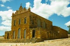 Slavs kyrka i Rio de Contas, Bahia, Brasilien Royaltyfria Bilder
