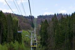 Slavsk镇的缆车  免版税库存图片