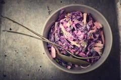 Slaw del col de la ensalada Fotografía de archivo