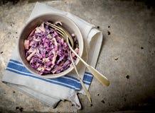 Slaw do Cole da salada foto de stock