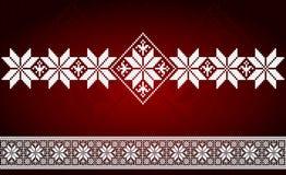 Slawisches Stickereiverzierungsschablonen-Dekorationsmuster Lizenzfreie Stockfotografie