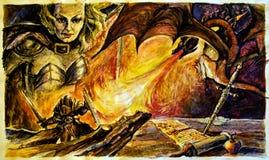 slayer дракона иллюстрация вектора