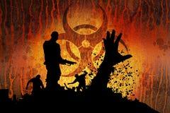 Slayer with gun horizontal Stock Images