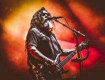 Slayer, Tom Araya żywy w koncercie 2017 fotografia royalty free
