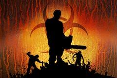Slayer z piłą łańcuchową horyzontalną Zdjęcie Stock