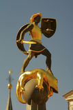slaying för drakespringbrunngeorge saint Arkivfoton