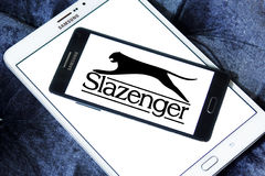 Slazenger logo. Logo of sporting fashion company, Slazenger on samsung mobile phone. Slazenger is a British sporting goods manufacturer which concentrates on Stock Image