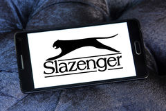 Slazenger logo. Logo of sporting fashion company, Slazenger on samsung mobile phone. Slazenger is a British sporting goods manufacturer which concentrates on Stock Photography