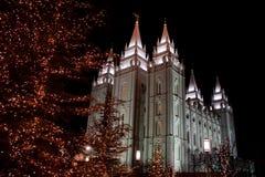 SLC寺庙圣诞节 库存照片