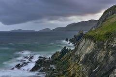 Slea возглавляет полуостров Dingle, Керри, Ирландию Стоковое Изображение