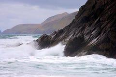 Slea Head. Rough seas and fog at Slea Head on Dingle Peninsula, Co.Kerry Royalty Free Stock Photography