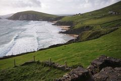 Slea Head bay and promontory, Ireland Royalty Free Stock Image