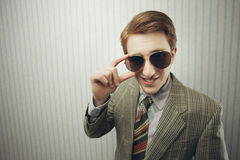 Sleazy Retro Businessman Royalty Free Stock Photography