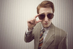 Sleazy Retro Businessman Royalty Free Stock Images