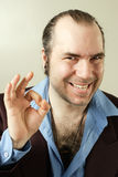 Sleazy Smiling Con Man Stock Photography