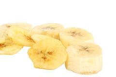 sleced bananer som torkas Royaltyfri Fotografi