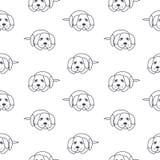 Slecht eenzaam honden naadloos patroon Stock Foto's