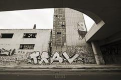 Slecht en gedegradeerd gebied in Piraeus - Griekenland Stock Fotografie