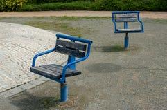 Slecht gehandhaafd stedelijk park stock afbeelding