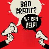 Slecht Krediet? Wij kunnen helpen! royalty-vrije illustratie
