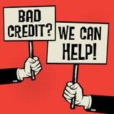 Slecht Krediet? Wij kunnen helpen! stock illustratie