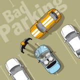 Slecht parkeren Royalty-vrije Stock Afbeeldingen