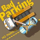 Slecht parkeren Stock Fotografie