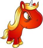 Slecht Unicorn Vector Royalty-vrije Stock Afbeeldingen