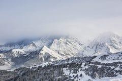 Slecht weer in bergen Royalty-vrije Stock Foto