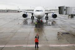 Slecht weer bij de luchthaven Orly Royalty-vrije Stock Foto's