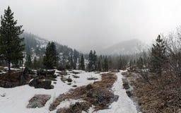 Slecht weer in de bergen Royalty-vrije Stock Foto