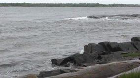 Slecht weer in het witte overzees