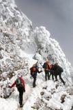 Slecht weer voor het beklimmen Stock Fotografie