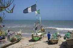 Slechte Afrikaanse fishermens Stock Fotografie