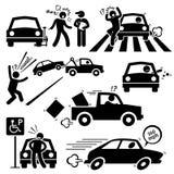 Slechte Autobestuurder Furious Driving Clipart vector illustratie