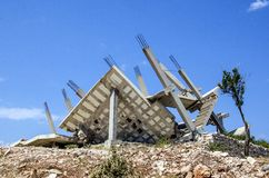 Slechte bouw Stock Foto