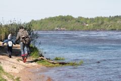 Slechte ecologie Rusland stock fotografie