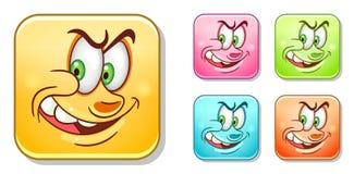 Slechte Emoticons-Inzameling royalty-vrije illustratie