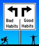 Slechte gewoonten goede gewoonten Stock Afbeelding