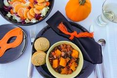 Slechte goede, zwarte en oranje Halloween-partijspaanse peper royalty-vrije stock foto