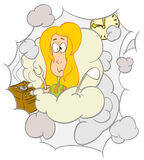 Slechte huishoudster royalty-vrije illustratie