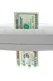 Slechte investeringen, financiële crisis, zwakke dollar Royalty-vrije Stock Afbeelding