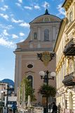 SLECHTE ISCHL, BOVEN-OOSTENRIJK /AUSTRIA - 15 SEPTEMBER: De Parochie Chu Stock Afbeeldingen